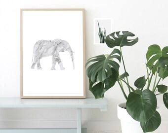 Elephant Print, Elephant Poster, Minimalist Poster, Printable Poster, Wall Art, Digital Print, Elephant Art, Home Decor, Art Prints