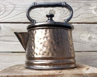 Bronze Hammered look McCoy Kettle/Cookie Jar