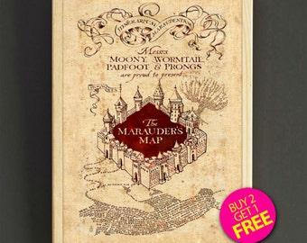 Harry Potter Marauder Map Print Harry Potter Poster Home Decor Marauder Map Wall Art Harry Potter Nursery Gift - Buy 2 Get FREE-548s2g