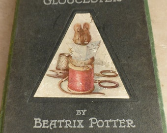 Antique Beatrix Potter book Tailor of Gloucester genuine first 1st edition 1903