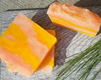 Lemongrass Soap - Lemongrass Essential oil soap - Handcrafted Lemongrass soap - Handmade Shea butter Soap