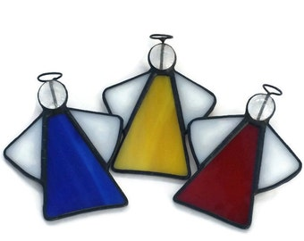 Stained Glass Angel Suncatcher, Angel Christmas Decoration