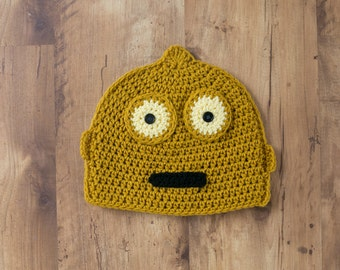 C3PO Hat, Star Wars Droid Hat, C3PO crochet hat, Star Wars C3P0 Hat, Star Was C3PO, Star Wars Hat, C3PO Beanie, C3P0 Hat, C3P0 Beanie