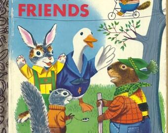 Children's Little Golden Book~RABBIT AND FRIENDS