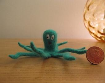 handmade needlefelt octopus, miniature