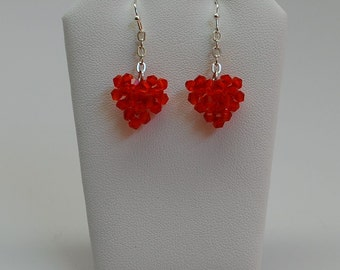 Valentine Red Crystal Earrings