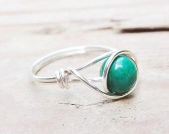 Acia Berry Wire Wrap Ring