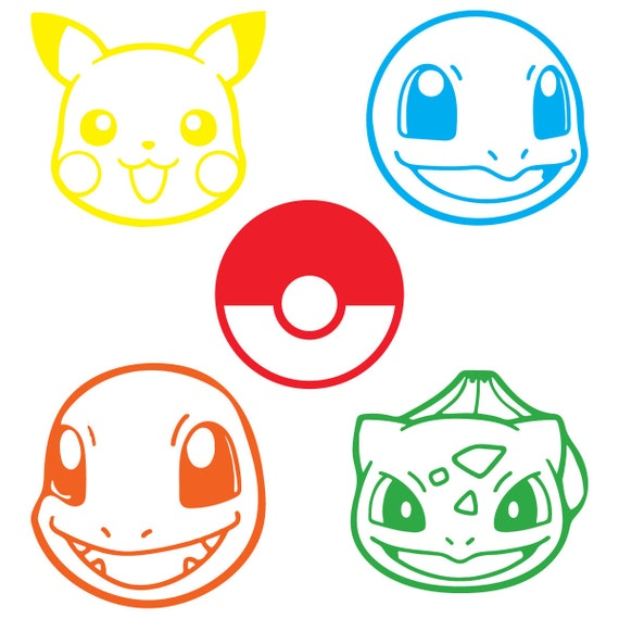 Set Of 5 Pokemon Go Character Decals