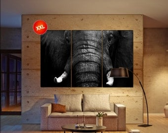 African Elephant  canvas African Elephant wall decoration African Elephant canvas art African Elephant large canvas