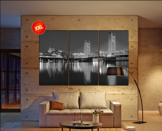 Sacramento canvas wall art  skyline Sacramento  canvas wall art art Sacramento  wall decoration Sacramento  large canvas wall art