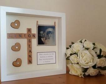 memory frame personalised scrabble style memory box frames personalised with your own verse lost loved one