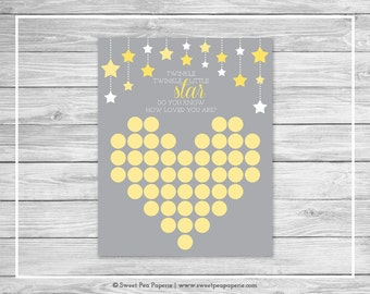 Twinkle Little Star Baby Shower Guest Book - Printable Baby Shower Guest Book - Twinkle Little Star Shower - Baby Shower Guest Book - SP117