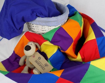 Rainbow Baby, Rainbow Quilt, Colourful Crib Bedding, Rainbow Crib Quilt, Rainbow Patchwork Quilt, Baby Quilt, Cot Quilt, Crib Quilt, Blanket