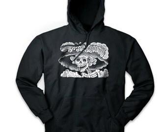 Pins & Bones Day of the Dead La Calavera Catrina Skeleton Black Pullover Hoodie