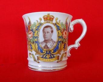King Edward VIII Coronation Mug by IRENT Ltd. Gr Britain 1937 Vintage