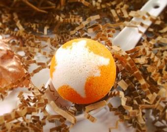 Peaches and Cream Mini Bath bomb, Peaches and Cream Bath bomb, Peach Bath bomb, Cream Bath bomb, Fruit Bathbomb, Fruity Bath bomb, Gift Idea