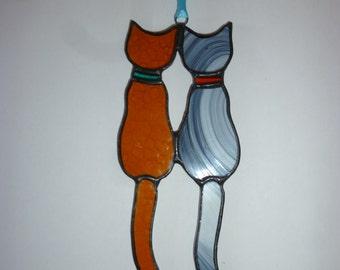 Pair cat suncatcher