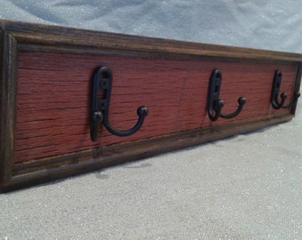 FREE shipping**Coat rack hanging wall rack reclaimed barnwood reclaimed wood Made to order