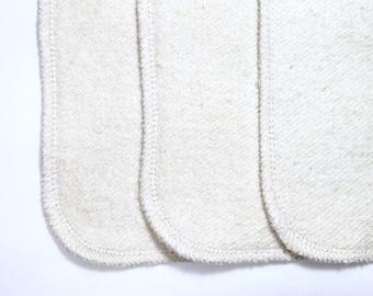24  Organic hemp french terry cloth diaper inserts super trim! Super absorbent!