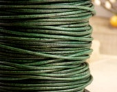 Natural Green Turquoise Leather Cording, 2mm, 2 yards