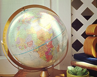 Mid Century Desk Globe 60's Office