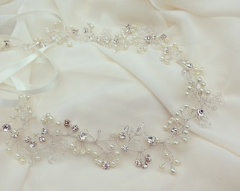 "Made to Order ""Sarah"" Hair Vine Bridal Hair Accessory Prom Hair"