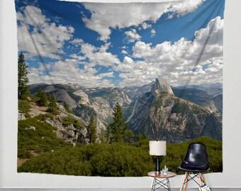 Photo Tapestry Yosemite National Park Fabric Art Print Wall Hanging - Half Dome