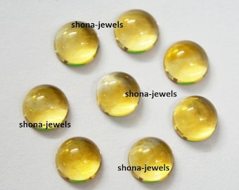 Lot of 10 Piece Natural Citrine 8X8 mm Round Cabochon Loose Gemstone