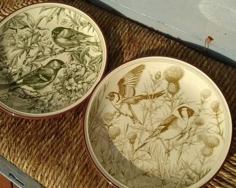 Italian Vintage Ceramic Plates - Birds