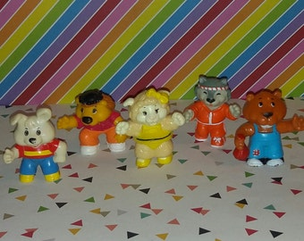 Vintage 1980s Group of 5 PVC Get Along Gang Figures  (Lot B)