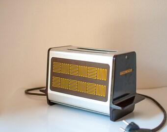 Vintage Toaster, Stiebel Eltron Toaster, Bread toaster, Vintage Electric toaster, Stainless steel and metal, 1970s kitchen, German electro