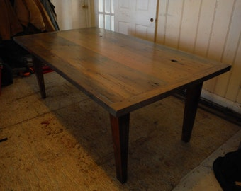 thick barnwood plank table