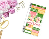 Summer Love Personal-Sized Samplers -- Matte Planner Stickers