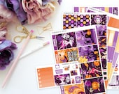 Halloween Vertical Weekly Kit -- Matte Planner Stickers