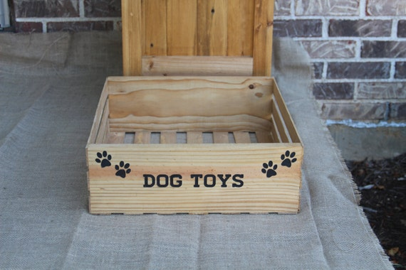 Dog Toy Crate Wooden Crate Dog Toy Holder