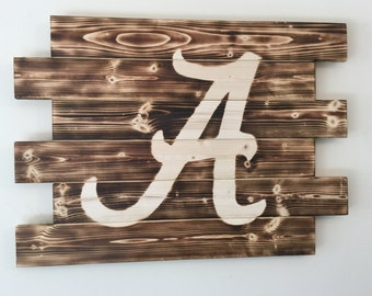 University of Alabama wood sign