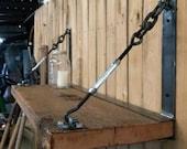 Industrial shelf/ reclaimed wood shelf