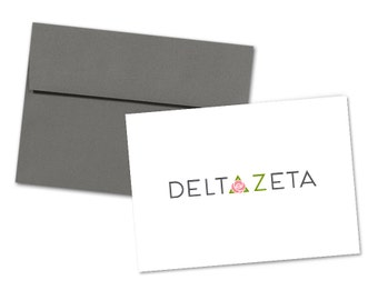 DZ Delta Zeta Logo Notecard with Envelope