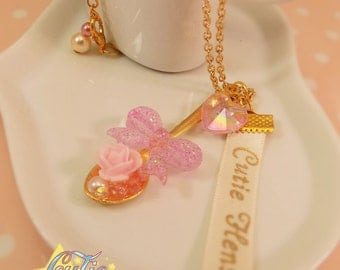 Golden Hime Spoon Necklace
