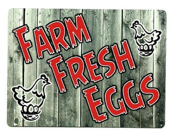 Magnet Farm FRESH EGGS poultry farmer farming chicken organic agriculture barn refrigerator magnets