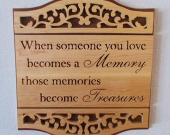 Berevement Wall Plaque