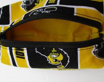 Iowa Hawkeye Zipper Pouch, Coin purse, ID wallet, gift idea, stocking stuffer