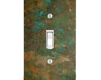 Home Decor Light Switch Cover-Printed Copper Image-Housewarming-Lighting-Wall Decor-Kitchen Decor-Bedroom Decor-Double Light Switch-Triple
