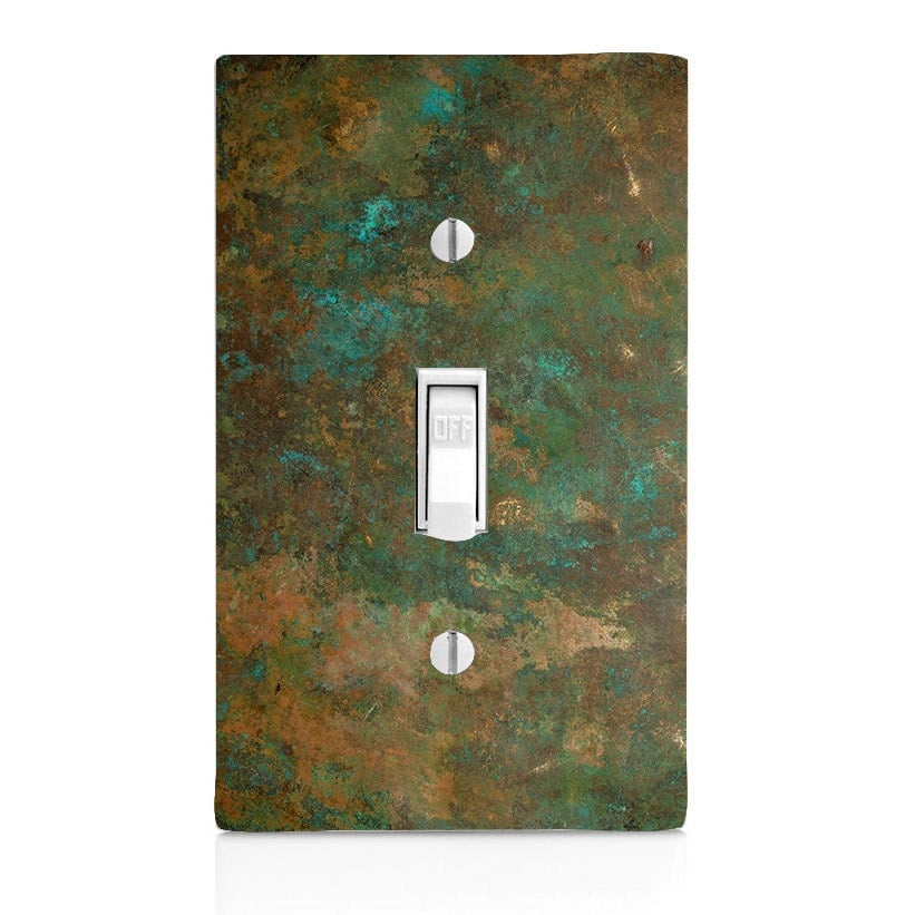 Home decor light switch cover printed copper for Decor light switch