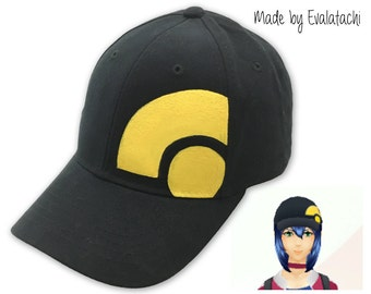 Pokemon Go Girl Trainer Avatar Inspired Black and Yellow Cap/Hat - Adult and Junior Sizes Available