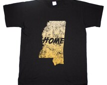 Unique mississippi state related items etsy for T shirts jackson ms