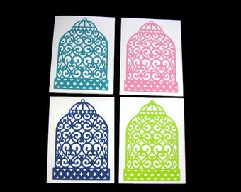 Bird Cage Blank Greeting Card Pack of Four