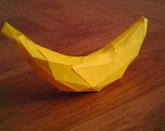 DIY 3D Papercraft Banana - PDF, Printable Model, Template