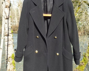 ANNA 14 Canadian made dark navy blue peacoat Australian lambswool blend that moths do not like and a warm lining ladies or mens peajacket