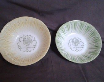 Vegetable Rooster Serving Nesting Bowls